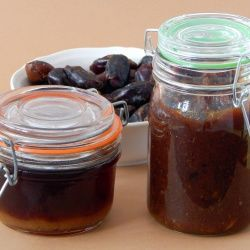 Homemade date paste and syrup