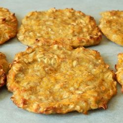 Carrot and oat fritters