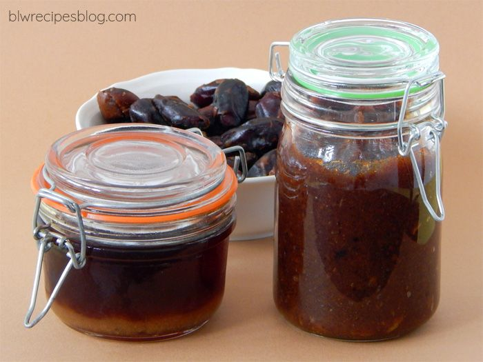 Homemade date paste and syrup - healthy sweeteners