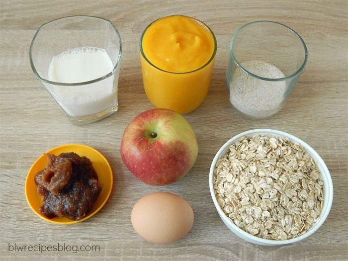 Pumpkin and apple oatmeal muffins - ingredients