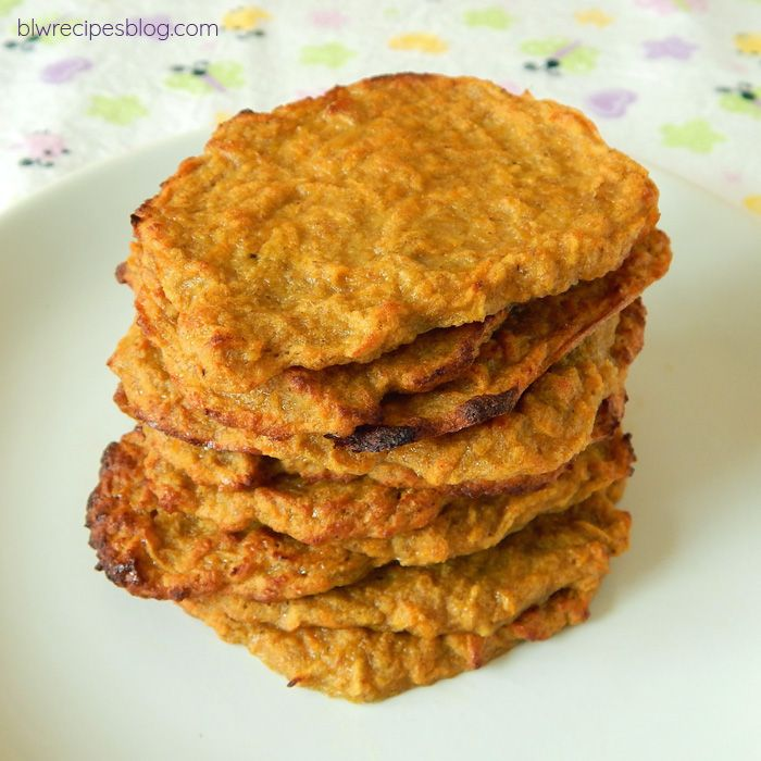 Baked fritters with sweet potato, apple, banana and spelt flour